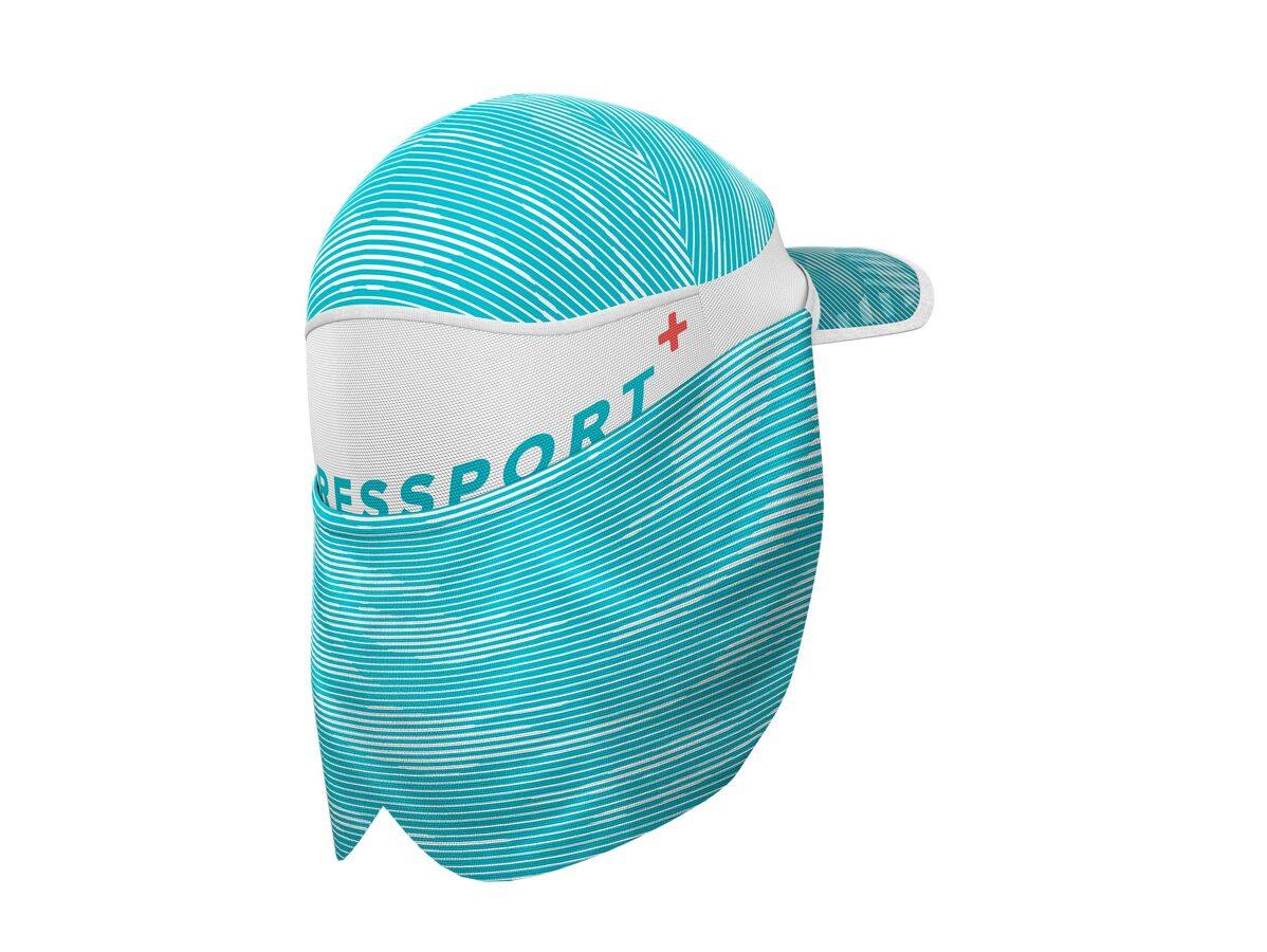 Skriešanas cepure ar ledus kabatām un skausta aizsargu Compressport Ice Cap Sun Shade