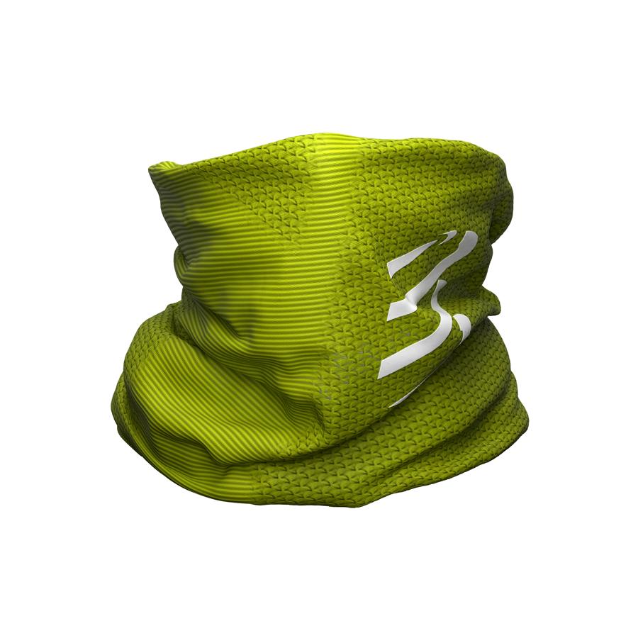 Sporta apaļšalle Compressport UltraLight Headtube, citrondzeltena