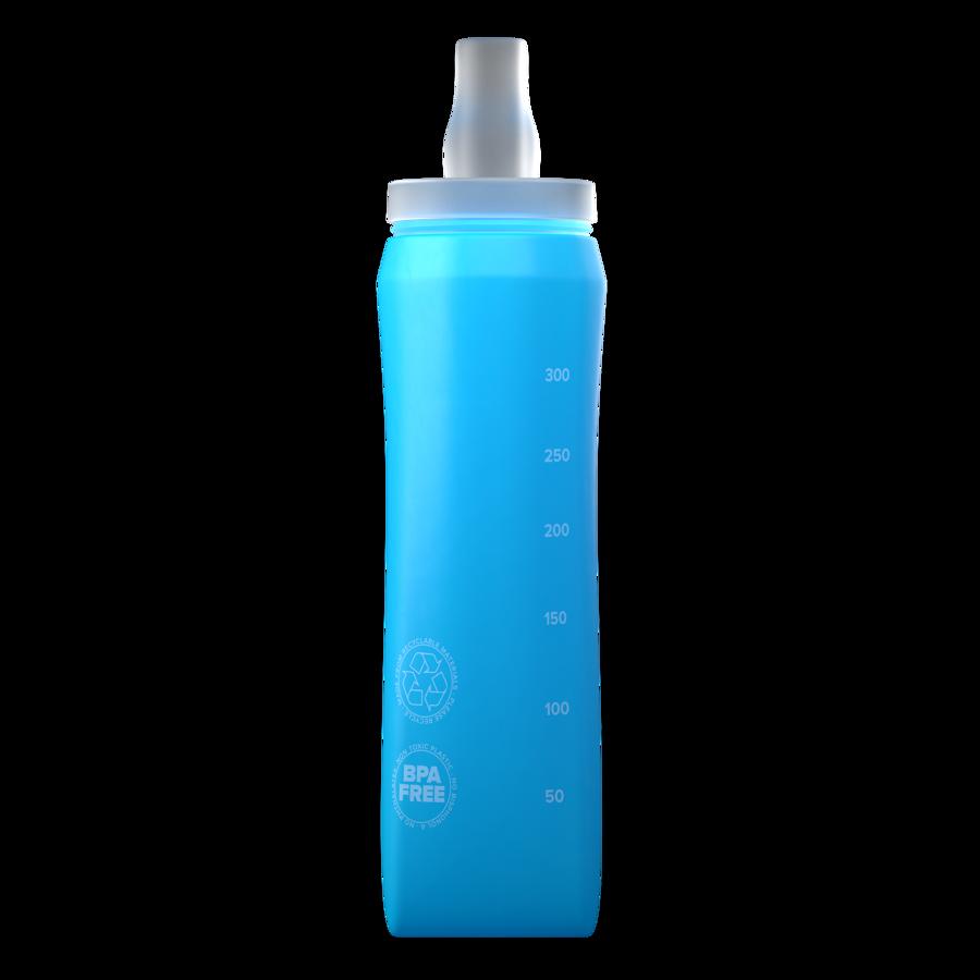 Mīkstā 300ml pudele Compressport Ergo Flask, tirkīza zila