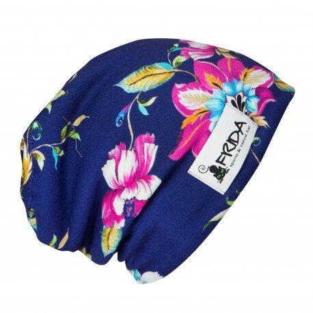 Frida Hats cepure, Lillā ar puķēm