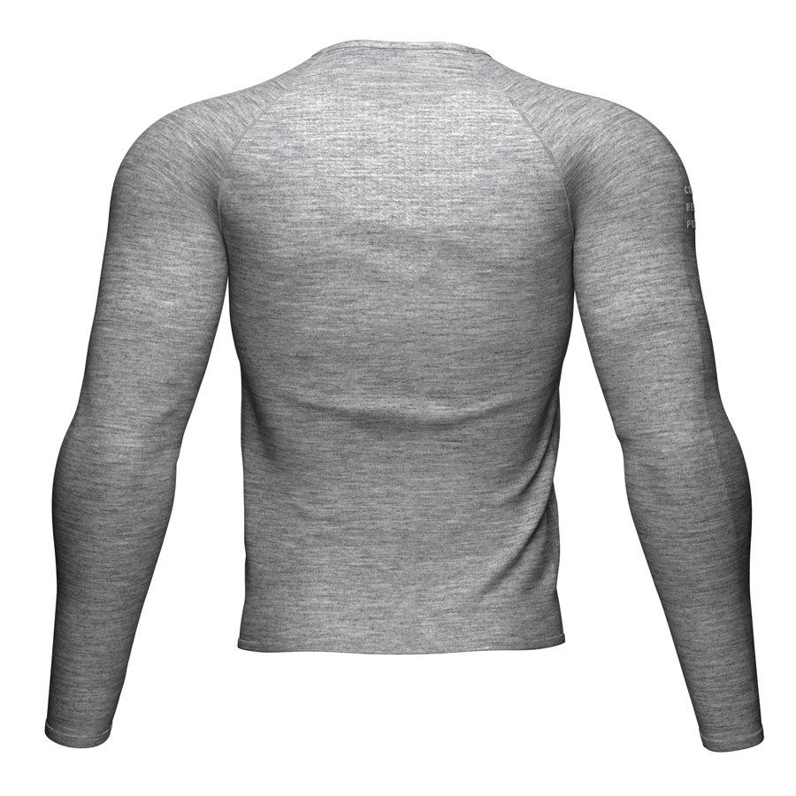 Pelēks garais Compressport skriešanas krekls,