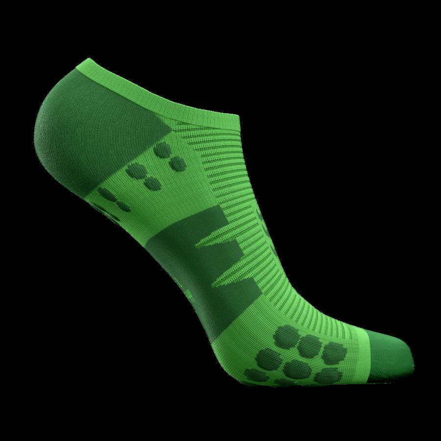 Neredzamās skriešanas zeķes Compressport No Show Socks Limited Edition, Greenery