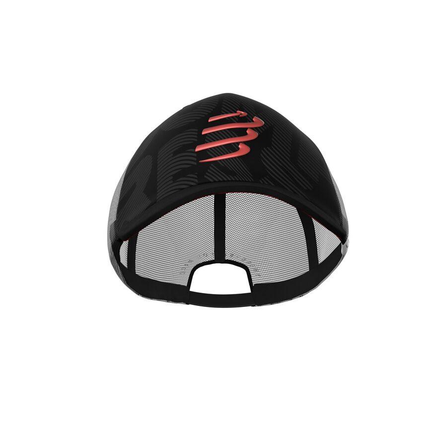 Melna cepure ar nagu Compressport Trucker Cap, Black