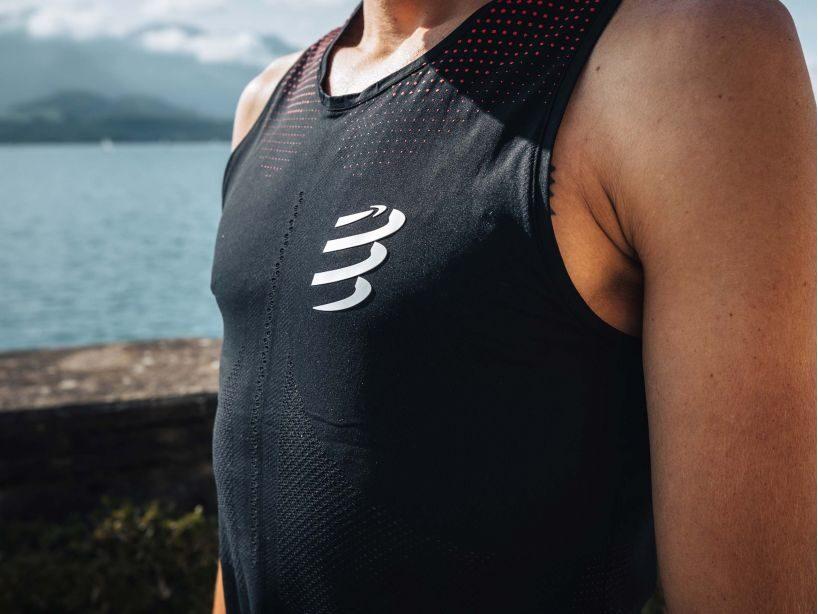 Compressport skriešanas krekls bez piedurknēm Pro Racing Singlet