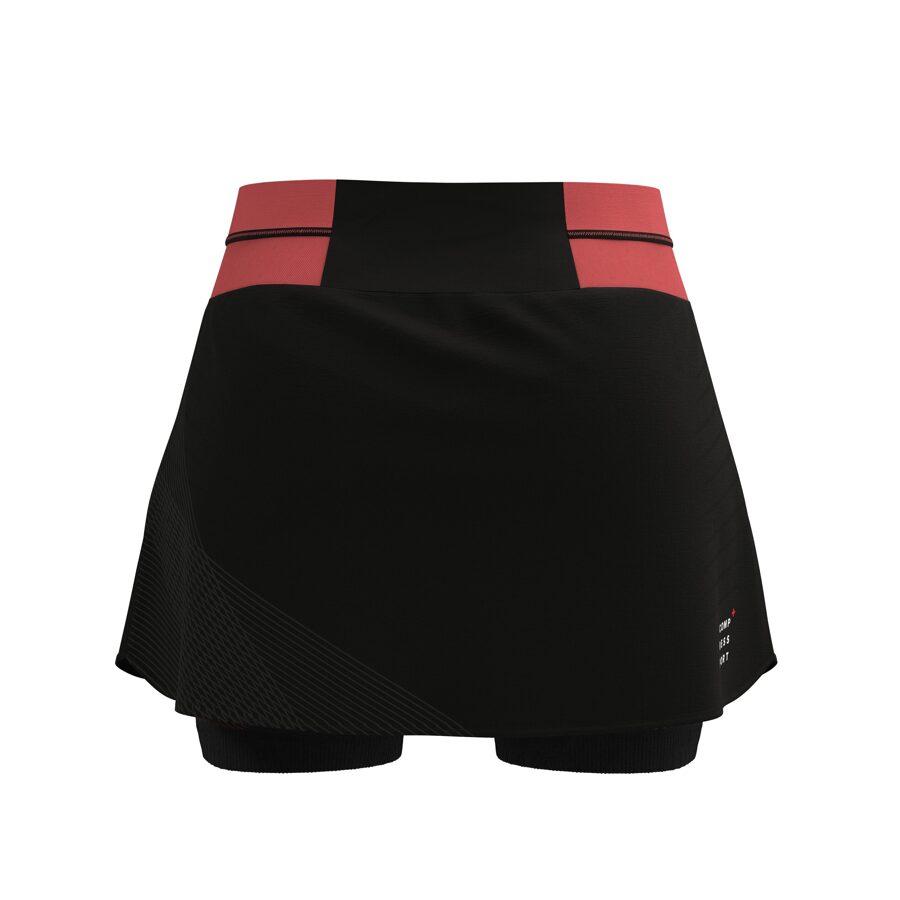Skriešanas svārki ar šortiem Compressport Performance Skirt W, koraļkrāsas