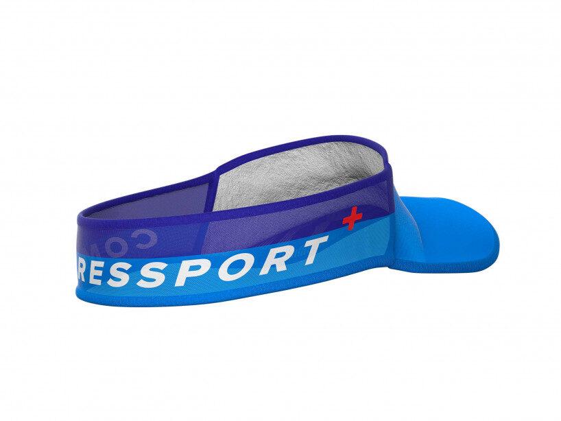 Vieglais skriešanas nadziņš Compressport Ultralight Visor, tirkīza zils