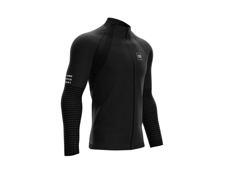Sporta jaka Compressport Seamless Zip Sweatshirt, melna