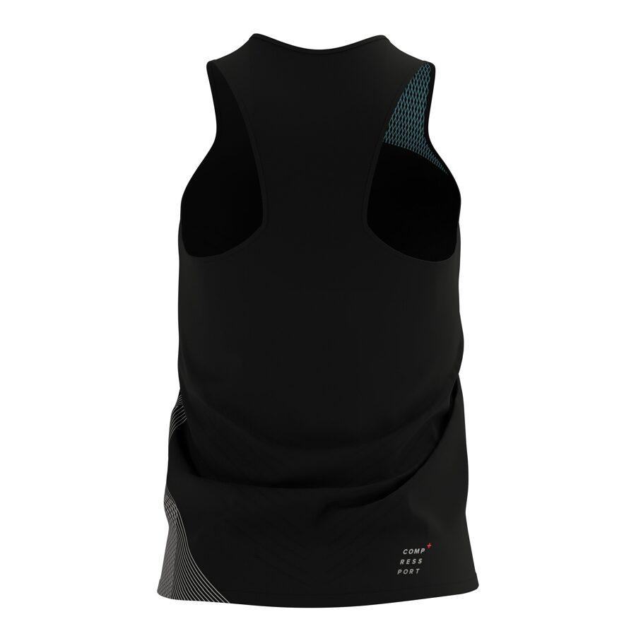 Sieviešu skriešanas krekls bez rokām Compressport Performance Singlet W, melns