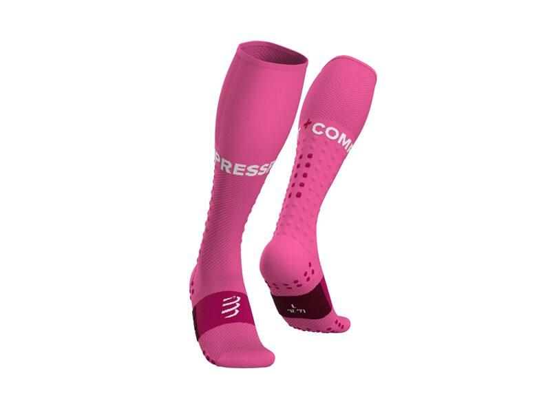 Skriešanas kompresijas zeķes Compressport Full Sock Run, rozā