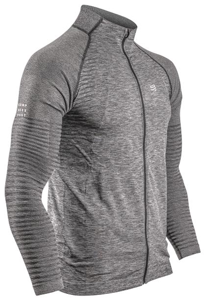 Sporta jaka Compressport Seamless Zip Sweatshirt, pelēka