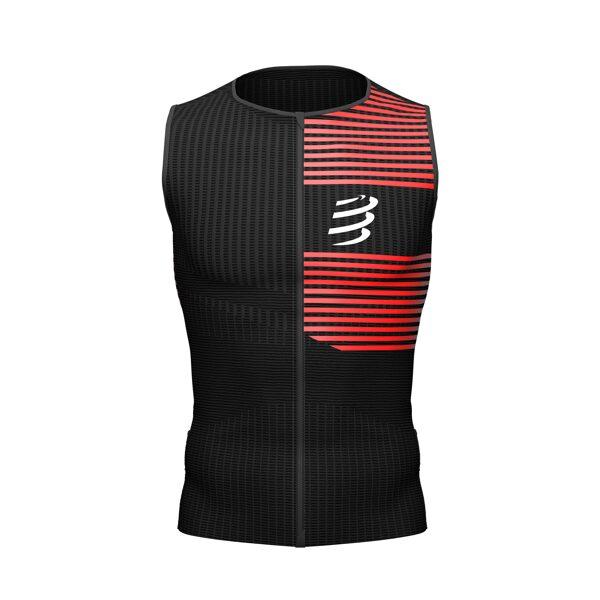 Triatlona krekls bez piedurknēm Compressport Tri Postural Tank Top, melns