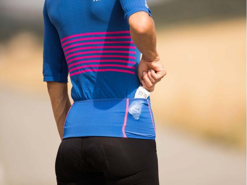 Sieviešu triatlona krekls Compressport Tri Postural SS Top W, Blue Lolite