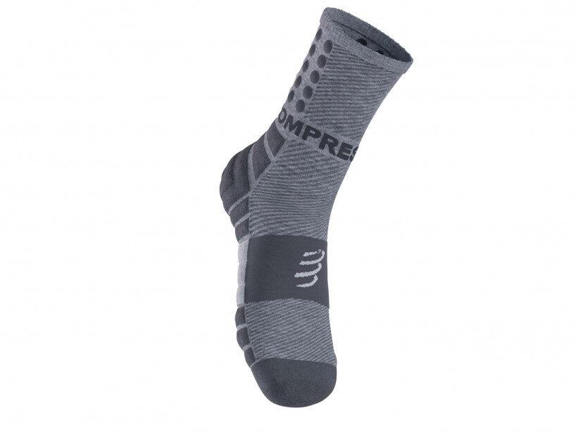 Saudzējošās skriešanas zeķes Cpmpressport  Shock Absorber Socks, pelēkas